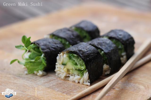 Zielone Wegańskie Maki Sushi