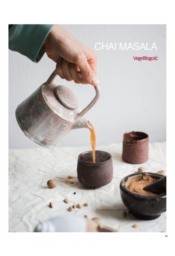 NIebieski Migdał Ebook TEA&CAKE Od ciasta do herbaty VEGE_ Chai Masala