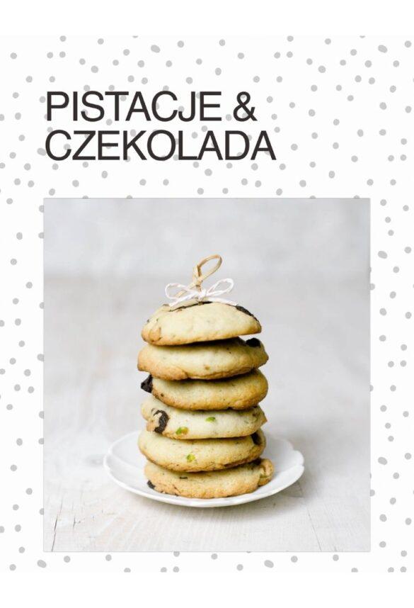 NIebieski Migdał Ebook TEA&CAKE Od ciasta do herbaty VEGE_ Ciasteczka Pistacha Czekolada